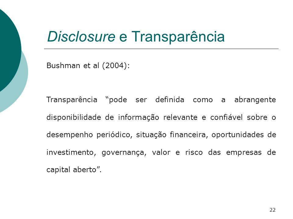 Disclosure e Transparência