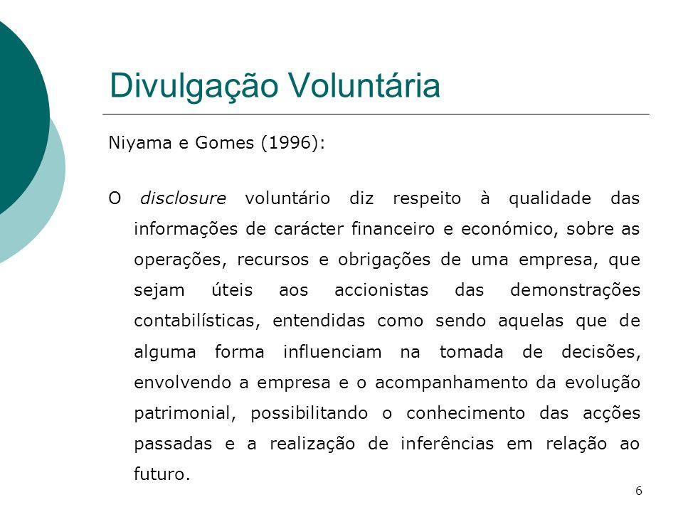 Divulgação Voluntária