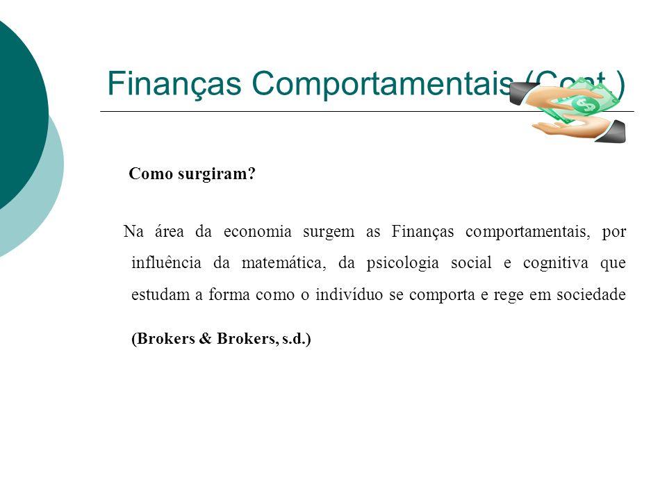 Finanças Comportamentais (Cont.)