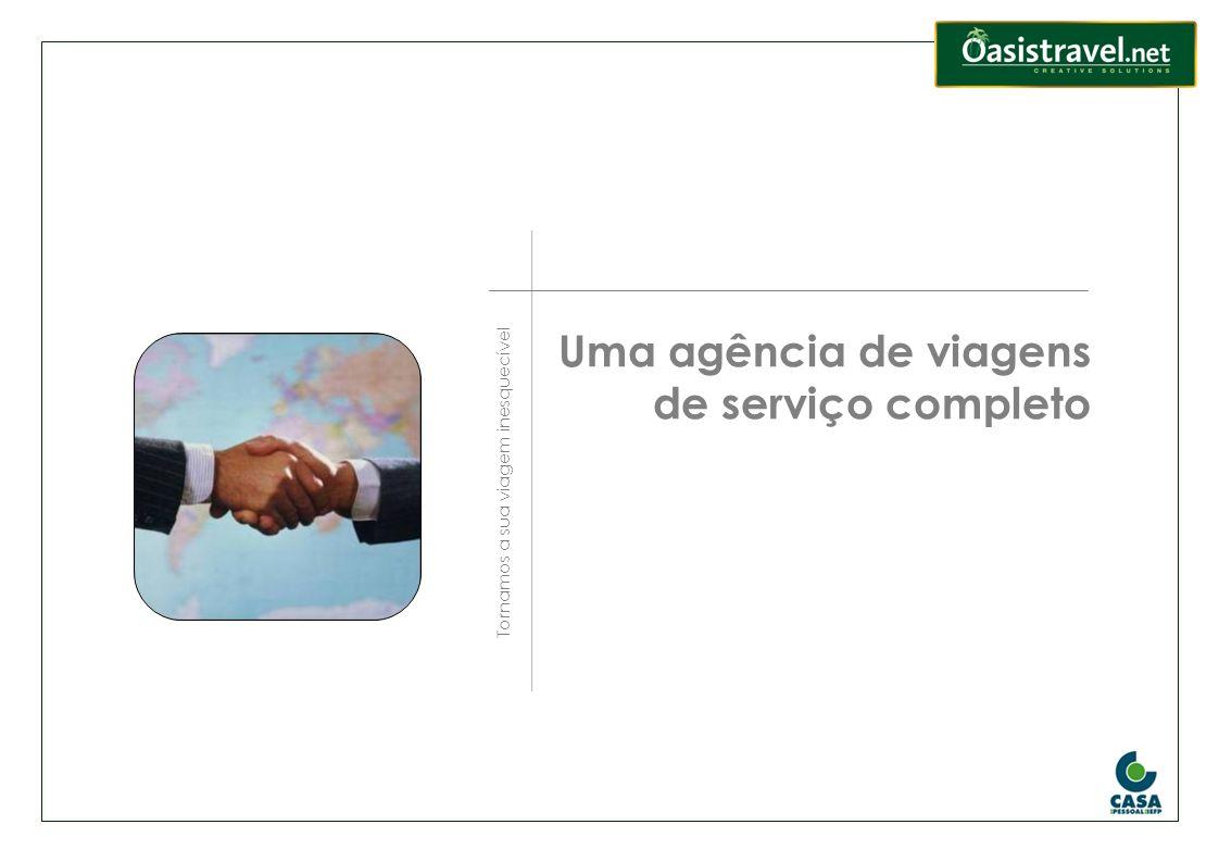 Uma agência de viagens de serviço completo
