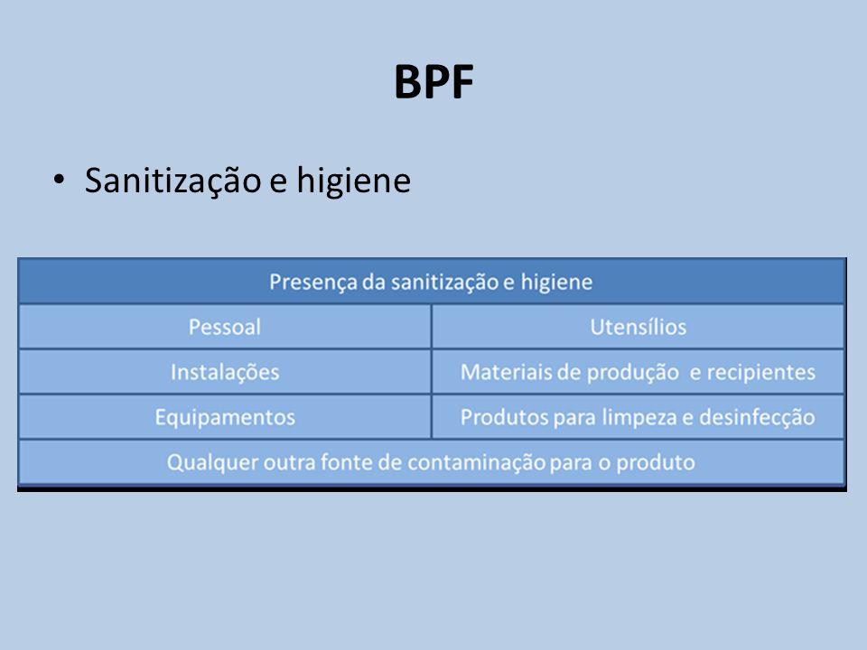 BPF Sanitização e higiene