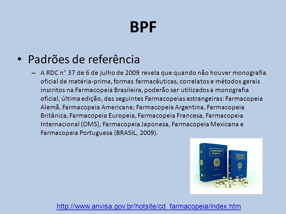 BPF Padrões de referência