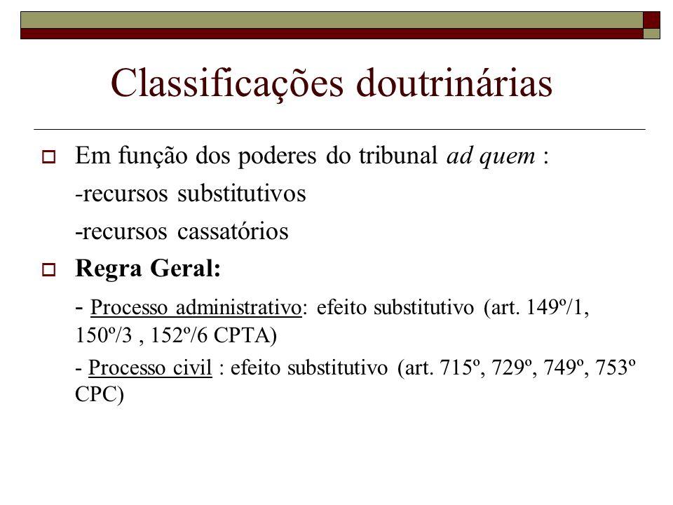 Classificações doutrinárias