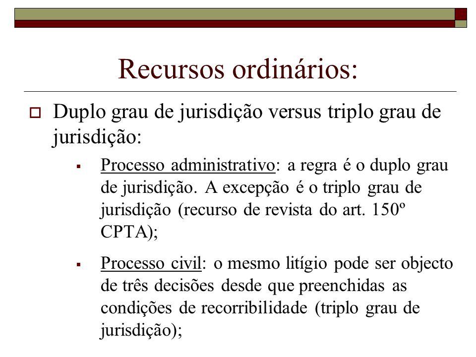 Recursos ordinários:Duplo grau de jurisdição versus triplo grau de jurisdição: