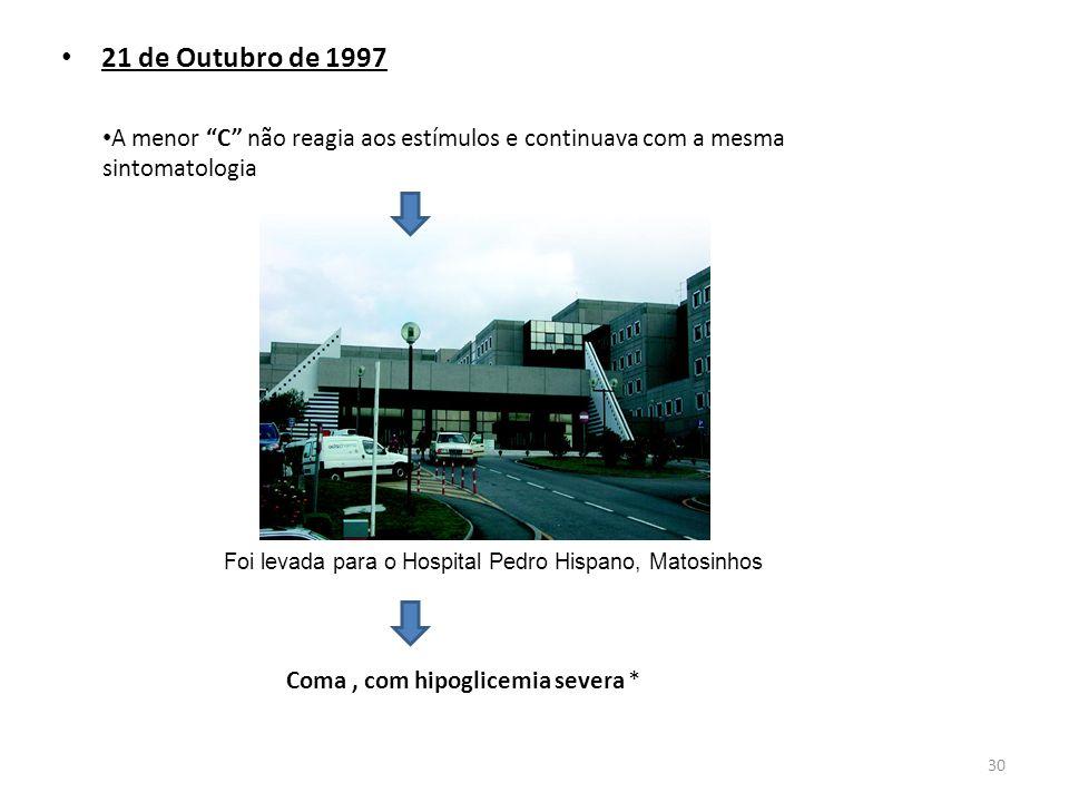Foi levada para o Hospital Pedro Hispano, Matosinhos