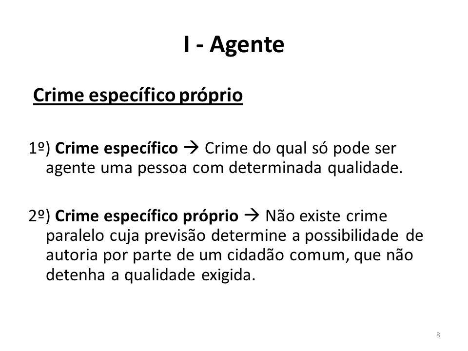 I - Agente Crime específico próprio