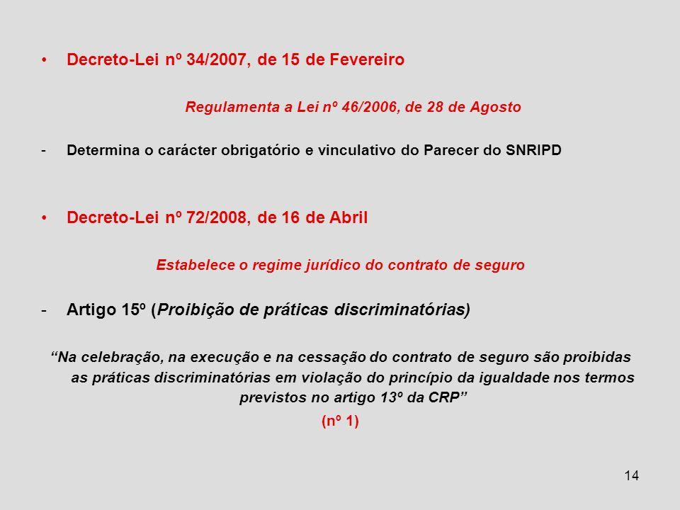 Decreto-Lei nº 34/2007, de 15 de Fevereiro