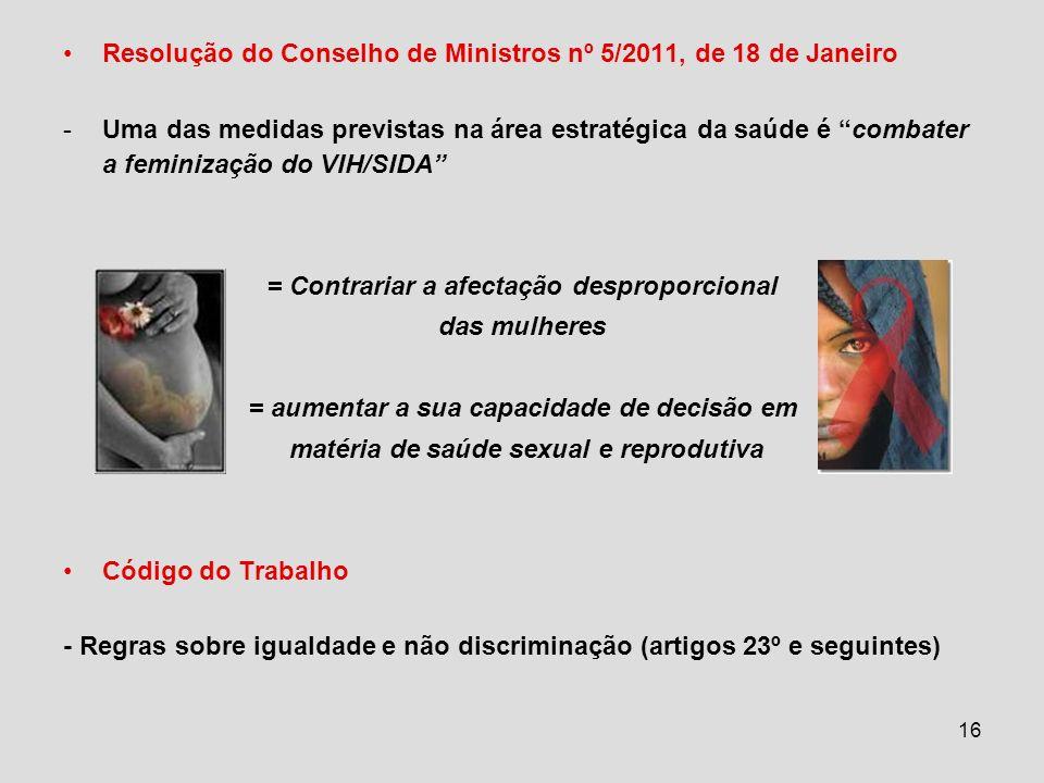 Resolução do Conselho de Ministros nº 5/2011, de 18 de Janeiro
