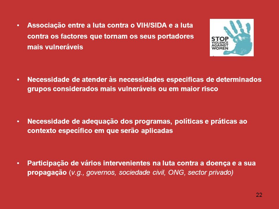 Associação entre a luta contra o VIH/SIDA e a luta