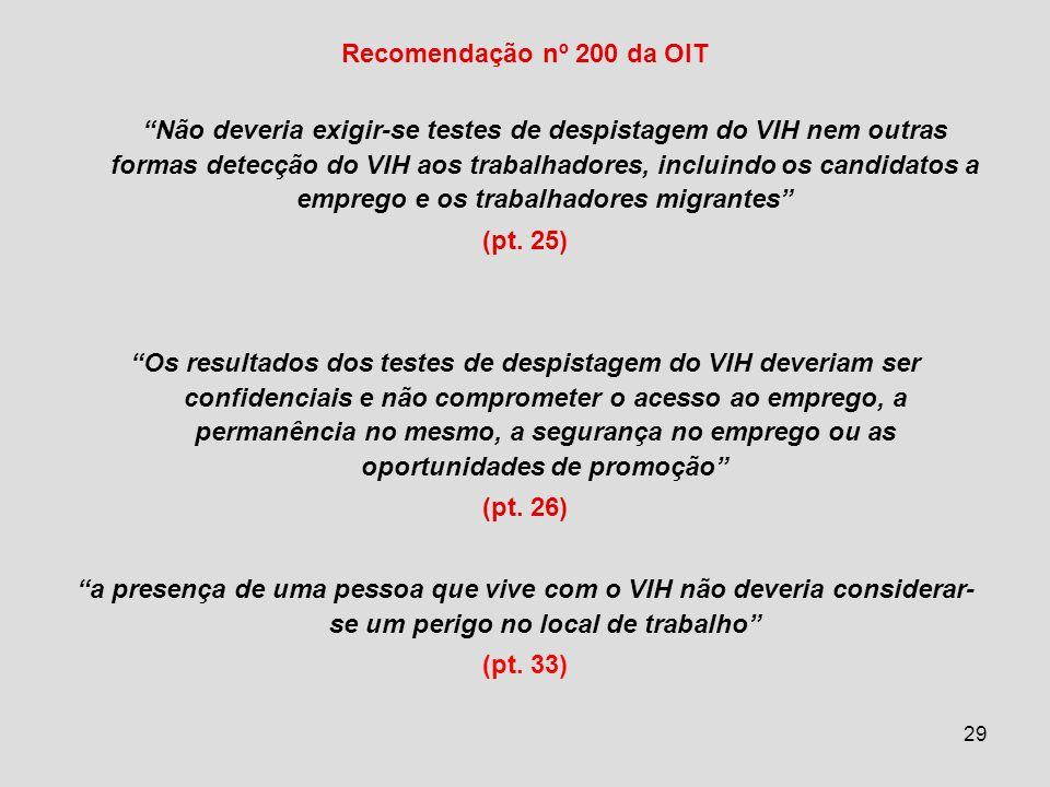 Recomendação nº 200 da OIT