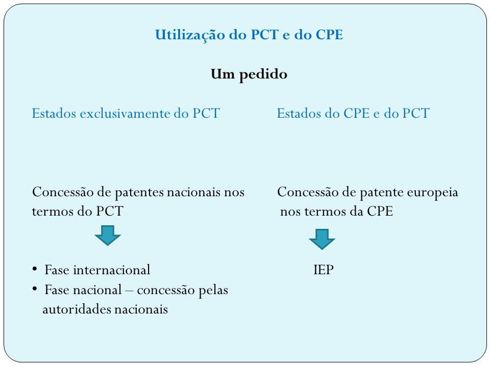 Utilização do PCT e do CPE