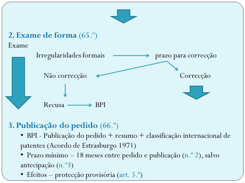 3. Publicação do pedido (66.º)