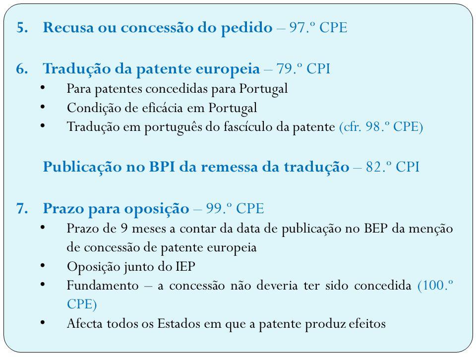 Recusa ou concessão do pedido – 97.º CPE