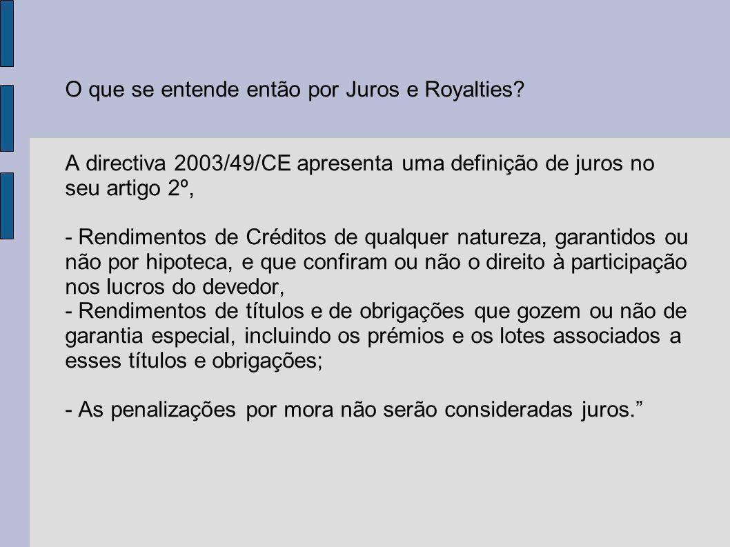O que se entende então por Juros e Royalties