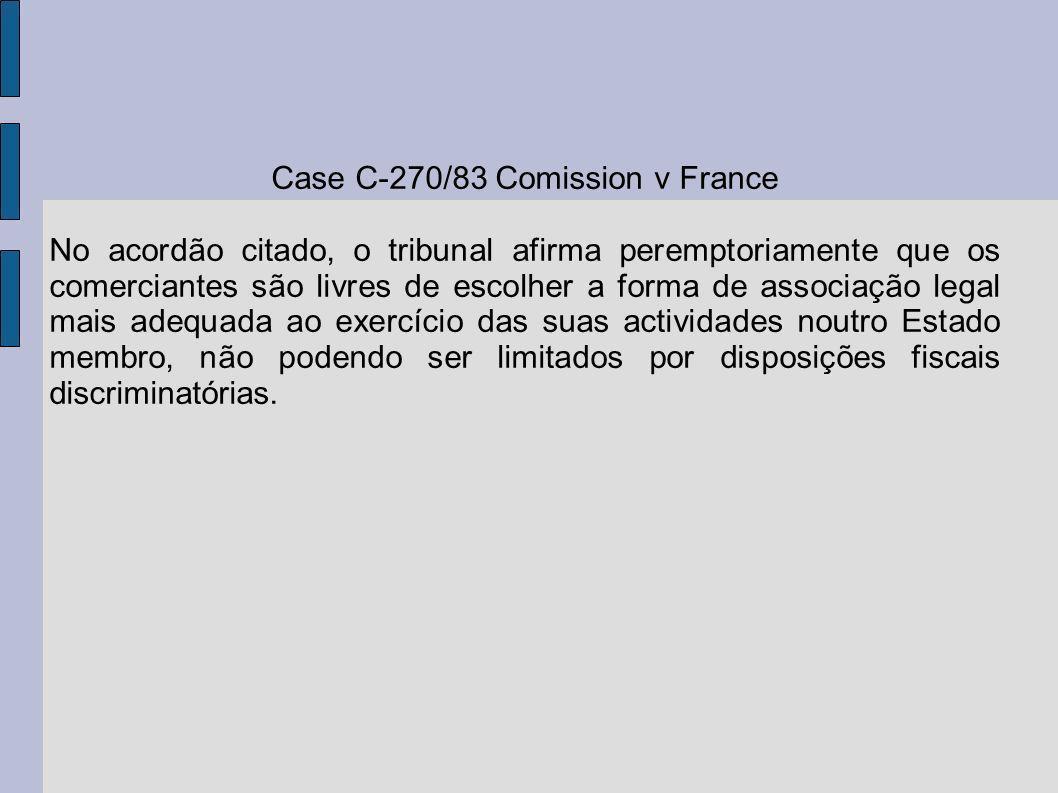Case C-270/83 Comission v France