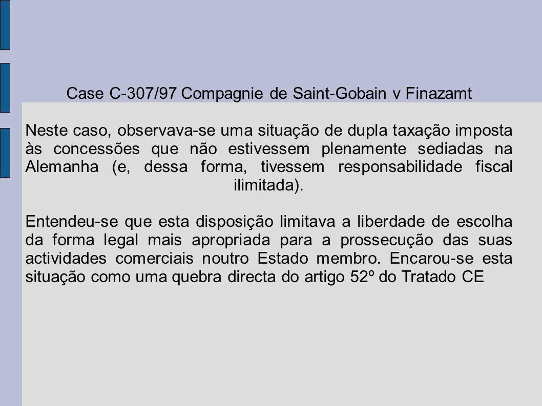 Case C-307/97 Compagnie de Saint-Gobain v Finazamt