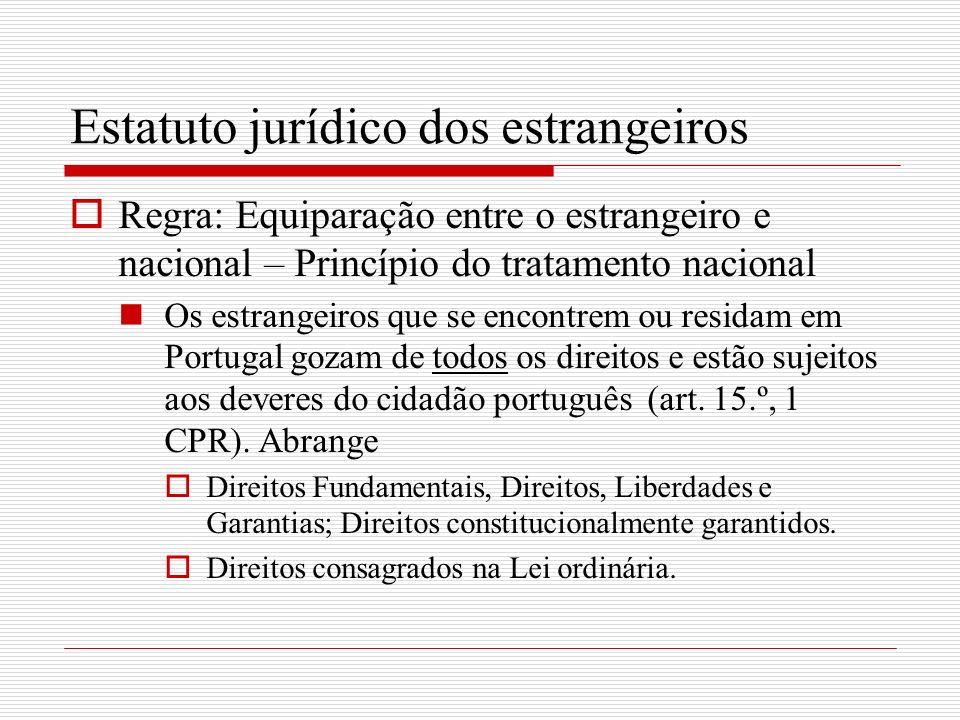 Estatuto jurídico dos estrangeiros
