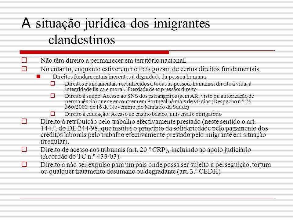 A situação jurídica dos imigrantes clandestinos