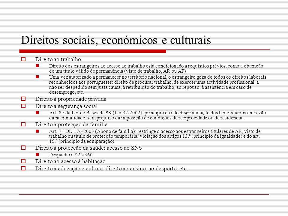 Direitos sociais, económicos e culturais
