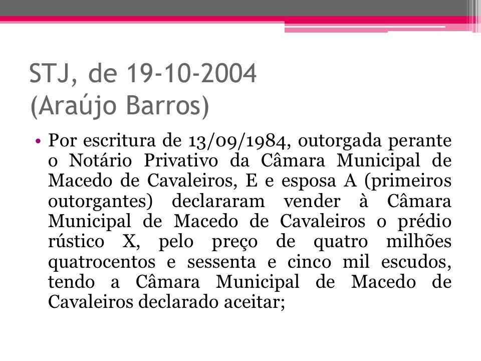 STJ, de 19-10-2004 (Araújo Barros)