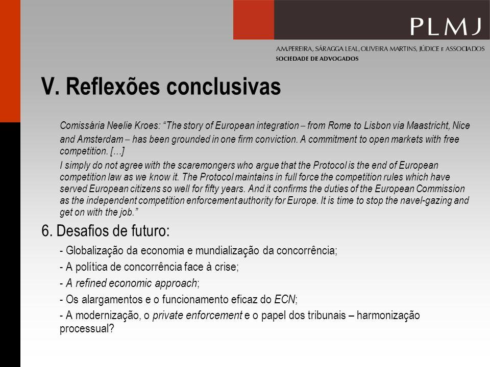 V. Reflexões conclusivas