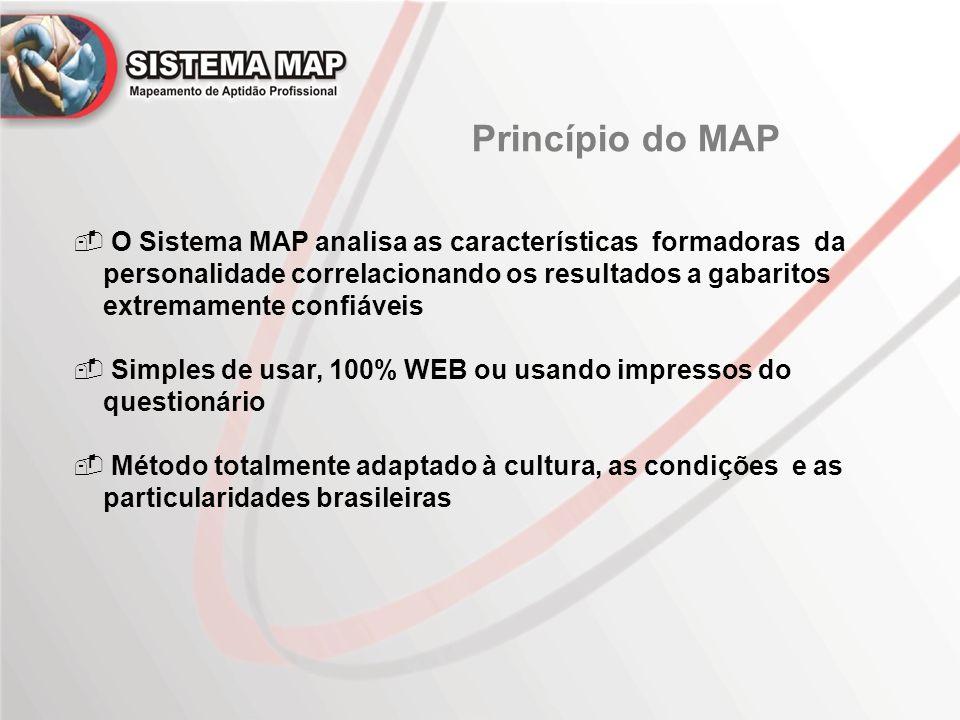 Princípio do MAP O Sistema MAP analisa as características formadoras da. personalidade correlacionando os resultados a gabaritos.