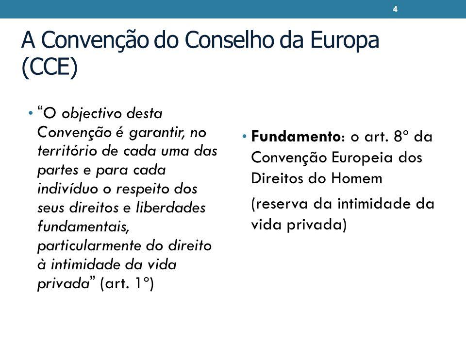 A Convenção do Conselho da Europa (CCE)