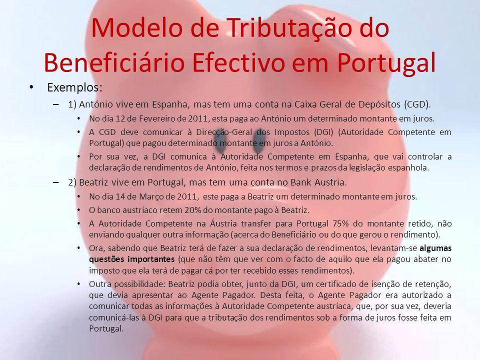 Modelo de Tributação do Beneficiário Efectivo em Portugal