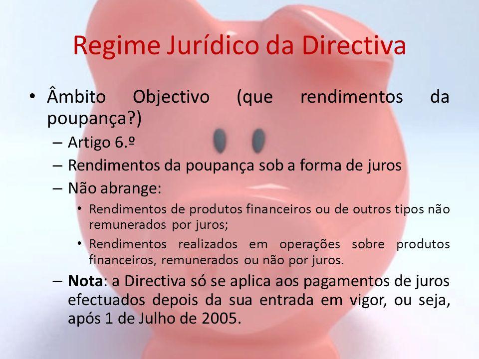 Regime Jurídico da Directiva