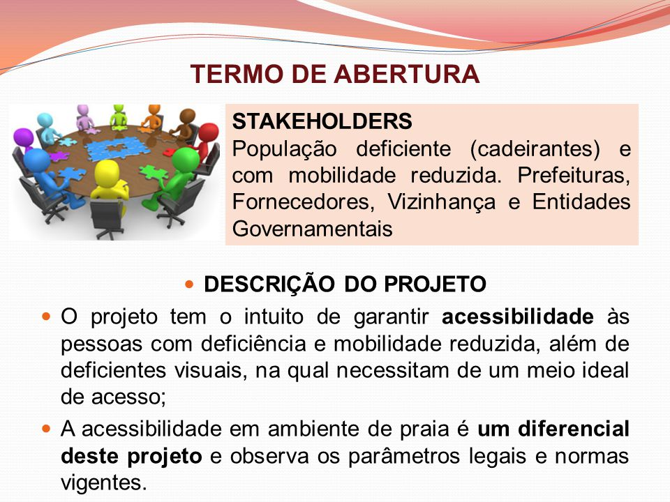 TERMO DE ABERTURA STAKEHOLDERS