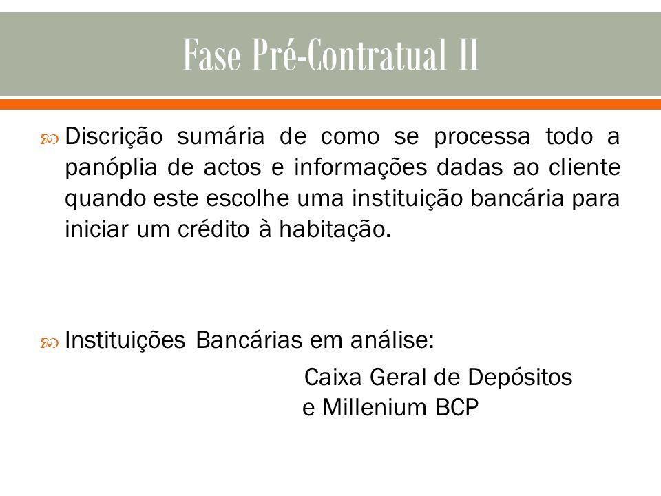Fase Pré-Contratual II
