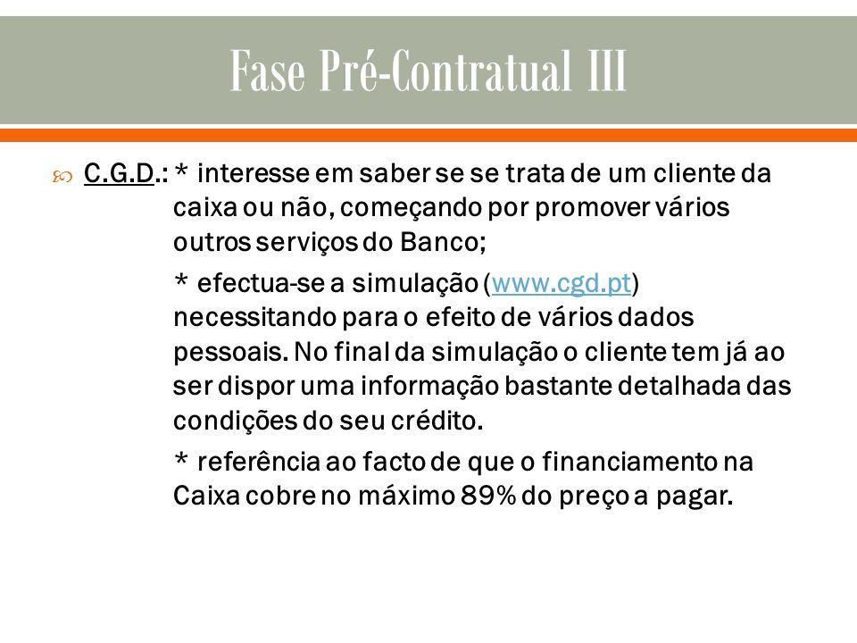Fase Pré-Contratual III