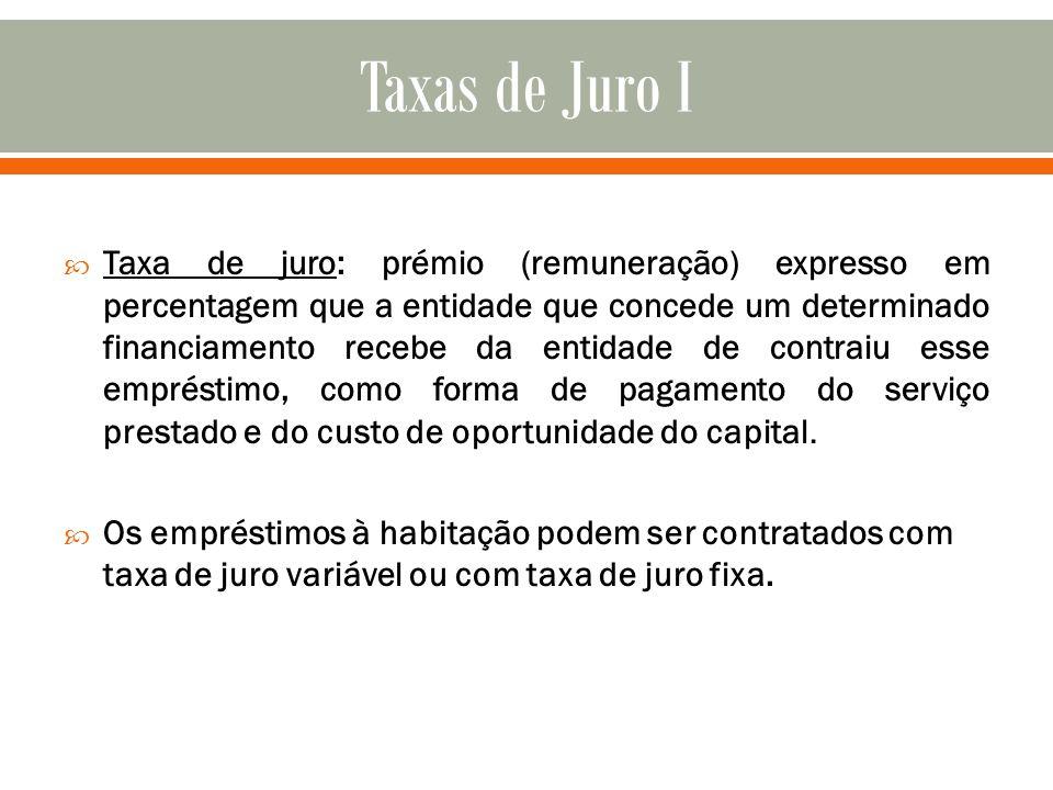 Taxas de Juro I