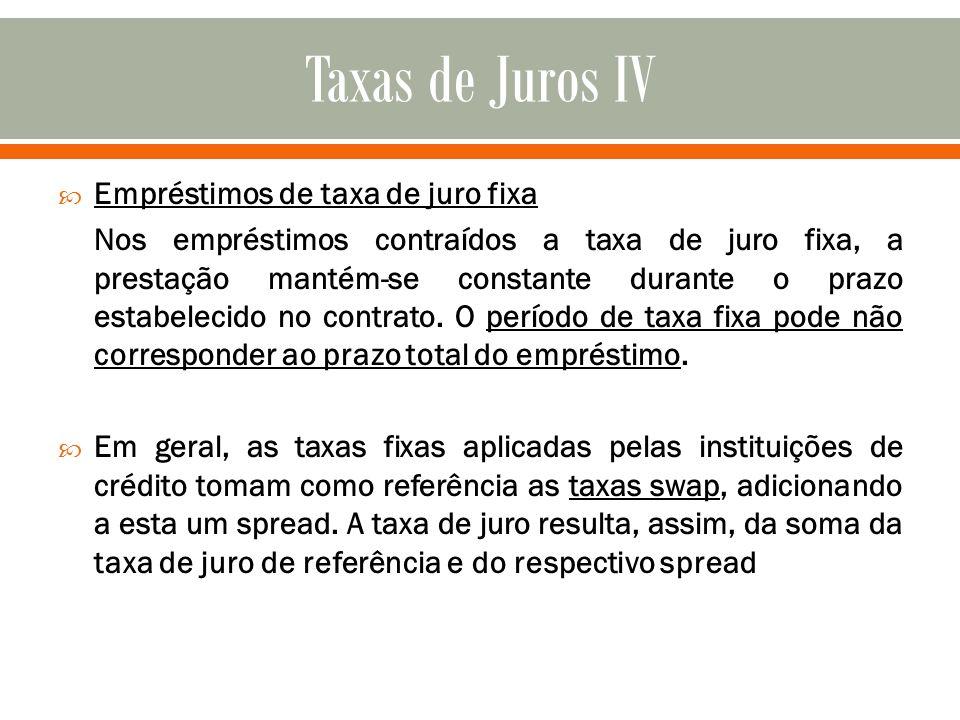 Taxas de Juros IV Empréstimos de taxa de juro fixa