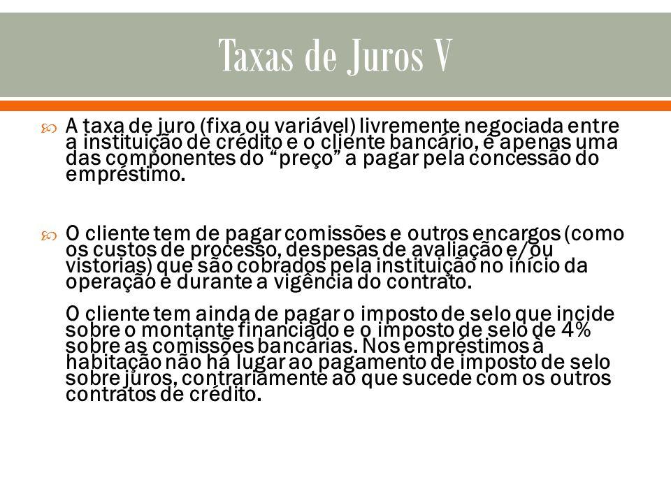 Taxas de Juros V