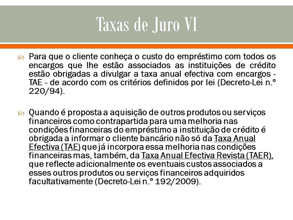 Taxas de Juro VI