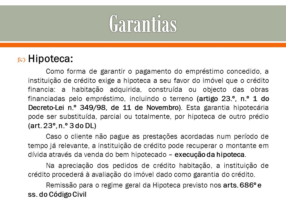 Garantias Hipoteca: