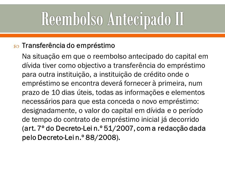 Reembolso Antecipado II