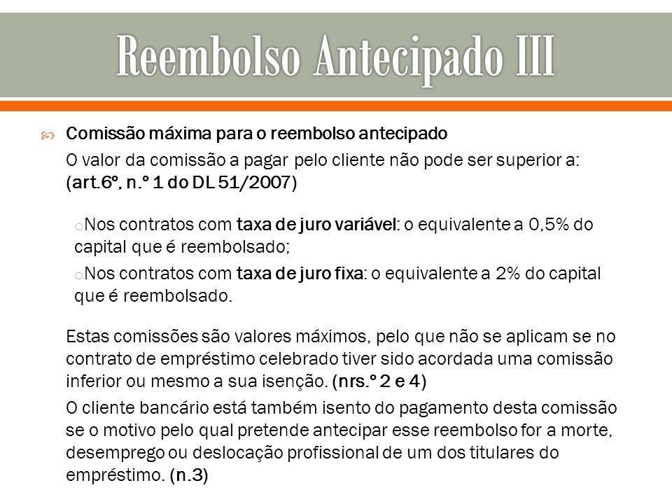 Reembolso Antecipado III