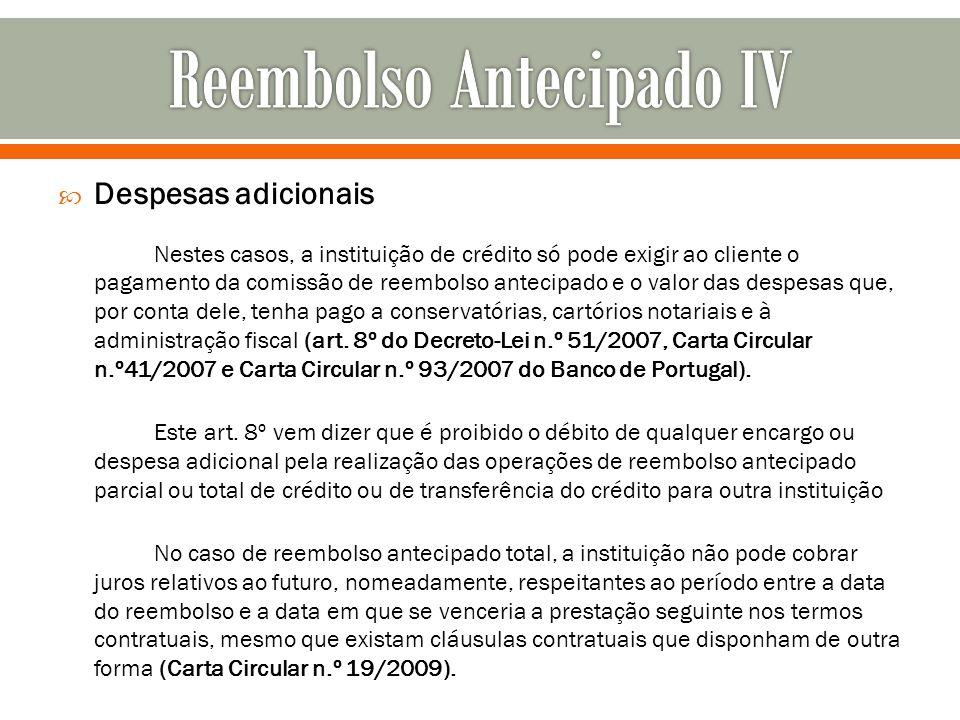 Reembolso Antecipado IV