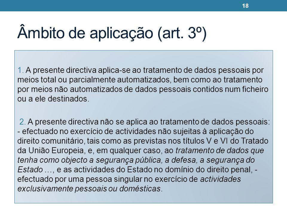 Âmbito de aplicação (art. 3º)