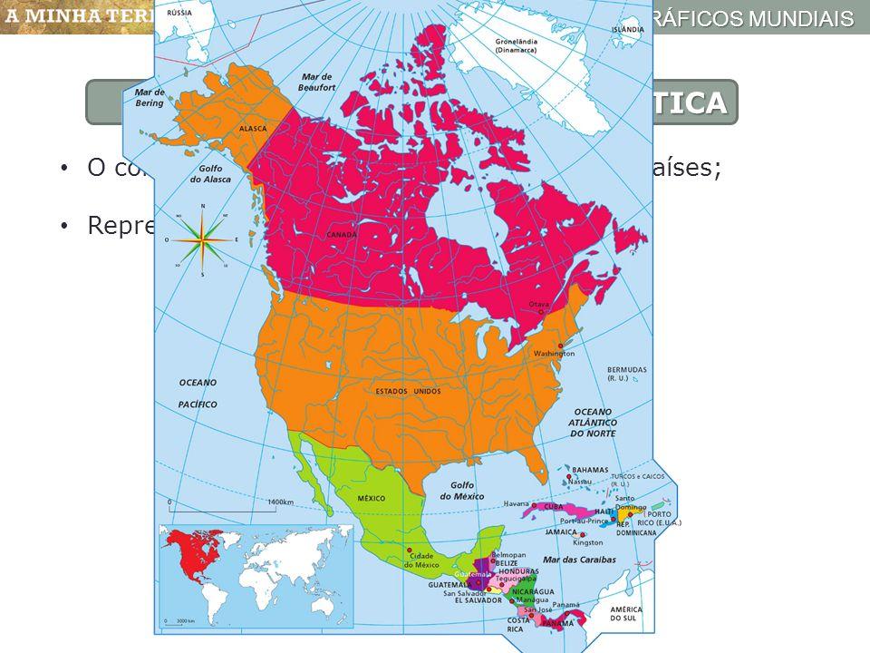 AMRICA FSICA O continente americano  o 2 maior do mundo