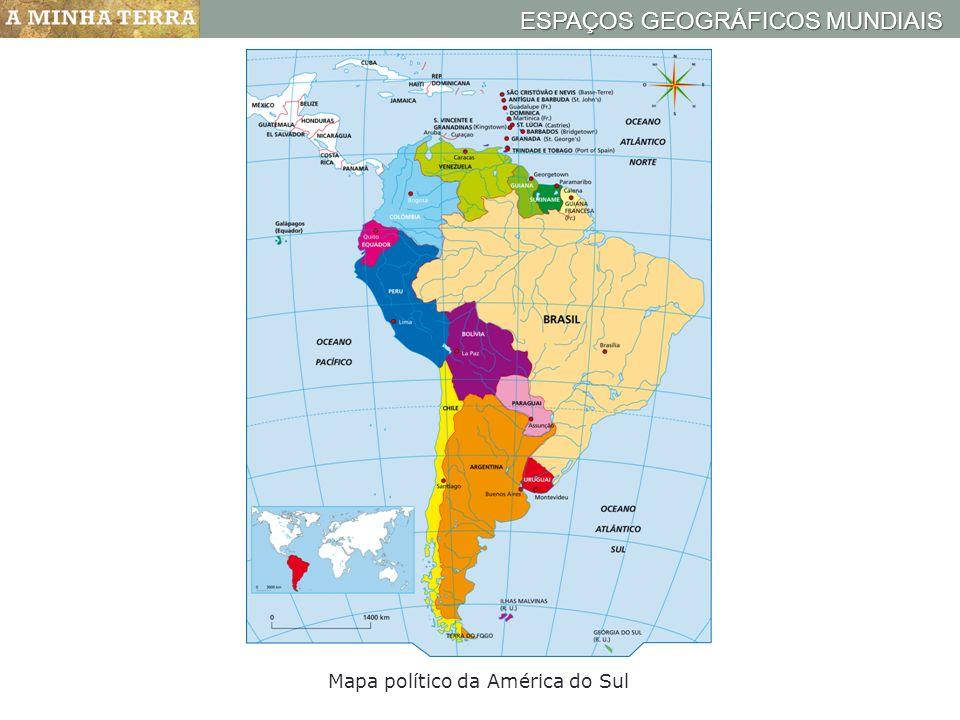 Mapa político da América do Sul