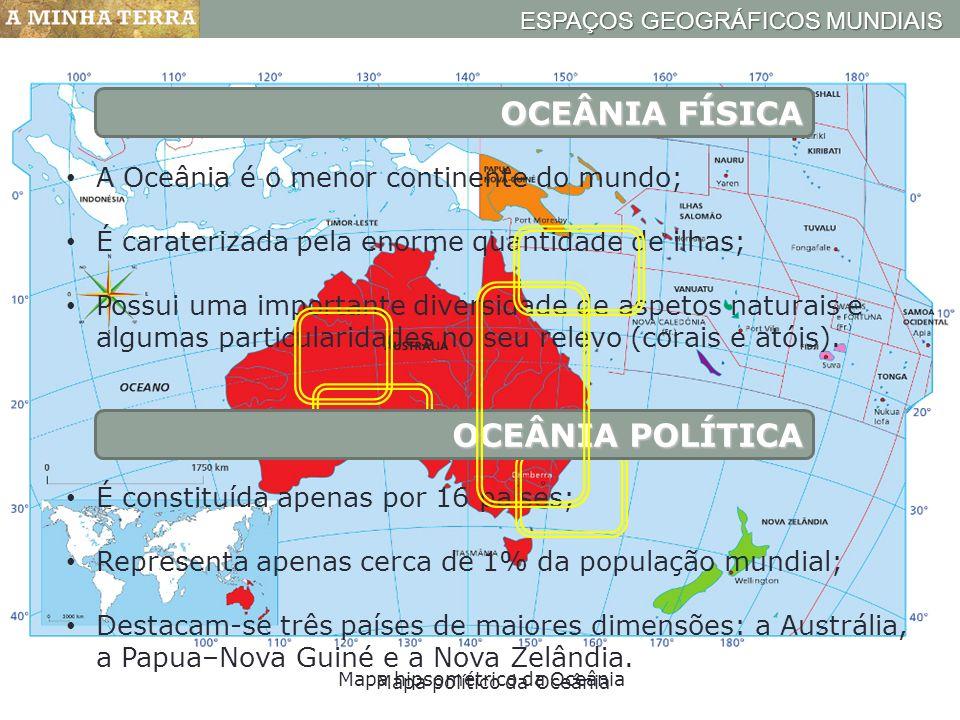OCEÂNIA FÍSICA OCEÂNIA POLÍTICA