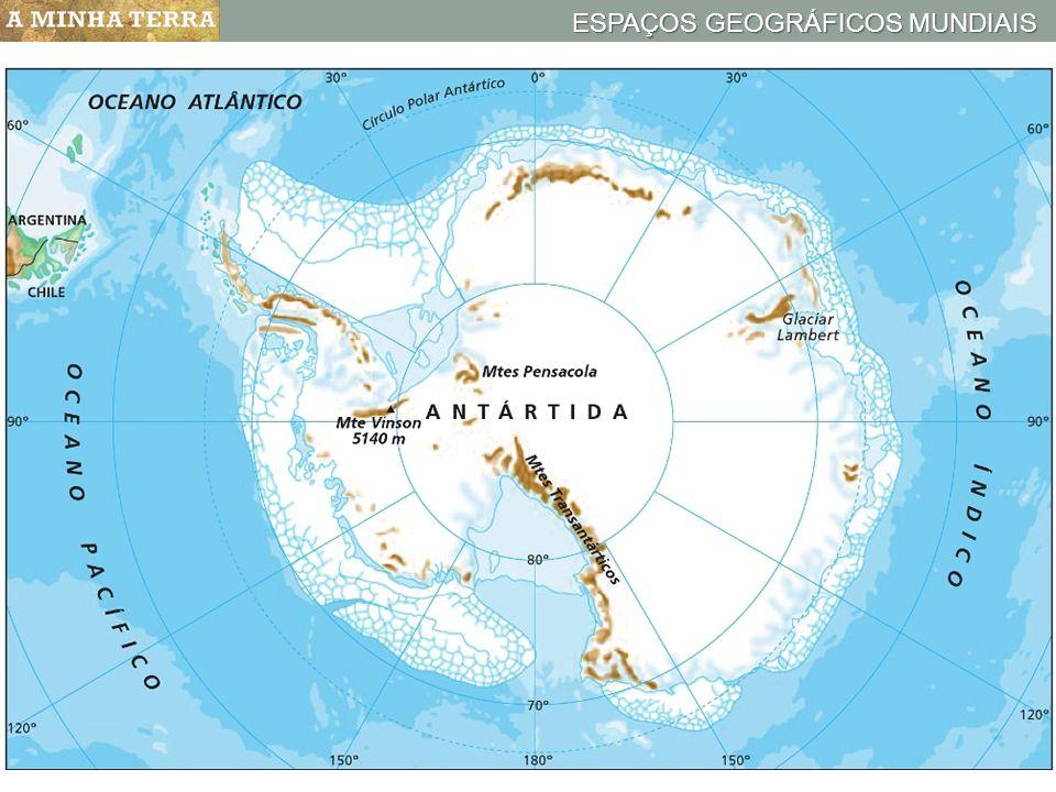 Mapa hipsométrico da Antártida