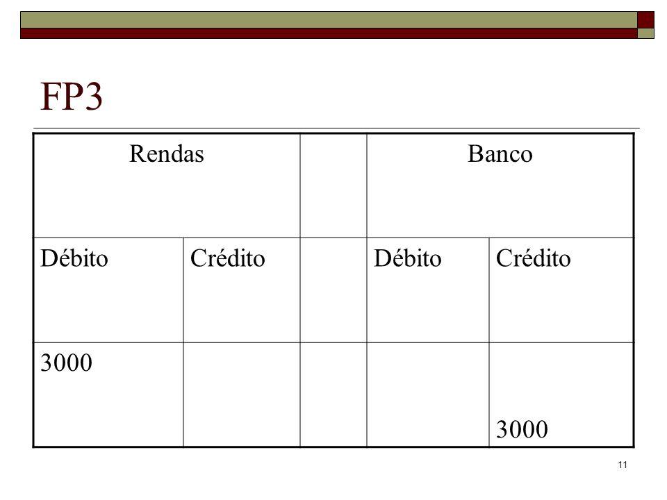 FP3 Rendas Banco Débito Crédito 3000