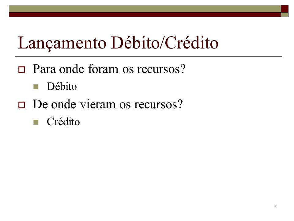 Lançamento Débito/Crédito