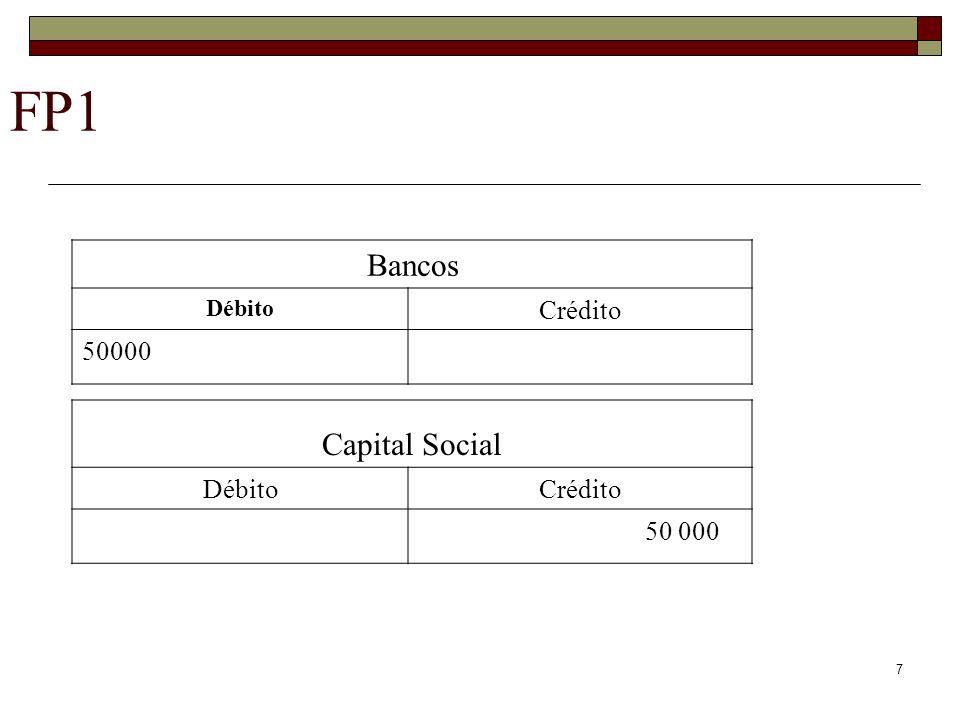 FP1 Bancos Débito Crédito 50000 Capital Social Débito Crédito 50 000