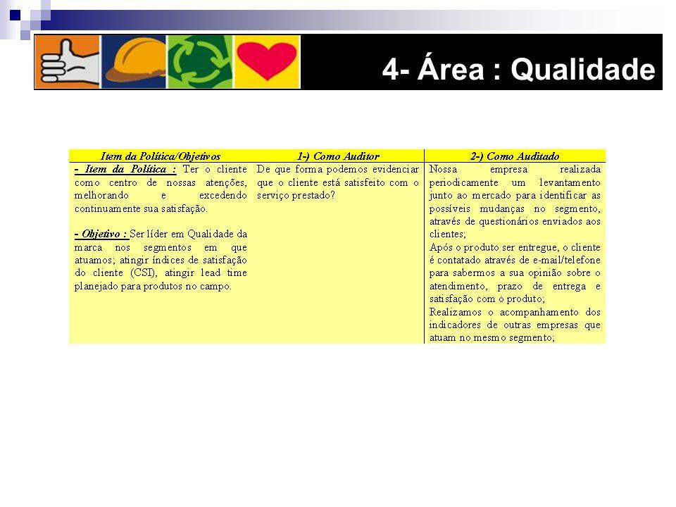 4- Área : Qualidade