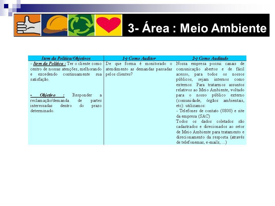 3- Área : Meio Ambiente